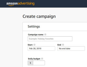 Creating an Amazon Ad